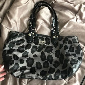 Coach snow leopard purse